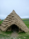 One of the Neolithic houses in preparation for the Stone Henge Visitor Centre