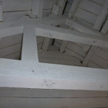A view up into the rafters