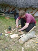 Making trennels (tree-nails)
