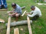 Stuart and Bob work in unison
