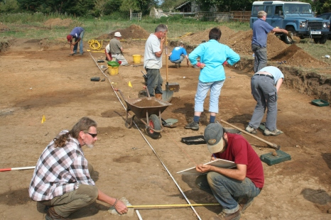 Digging, recording and pondering over what is actually going on in the site