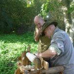Bodger Richard was on hand to give Jack a lesson in turning.
