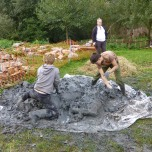 Mountains of Mud! Kindly donated by Godwins Peat Company.