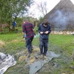 Treading the clay and straw.