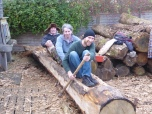 The three canoeists, up a creek without a paddle.