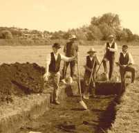 modern (surely 1890's? ED) excavation