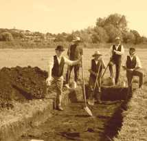 modern (surely 1890's? ED) excavation