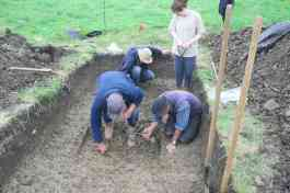 excavating the enclosure ditch
