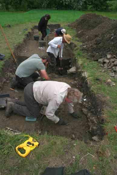 excavating the new stone building