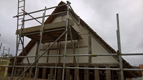 two coats on the gable end