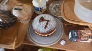 Martin's cappuccino axe cake