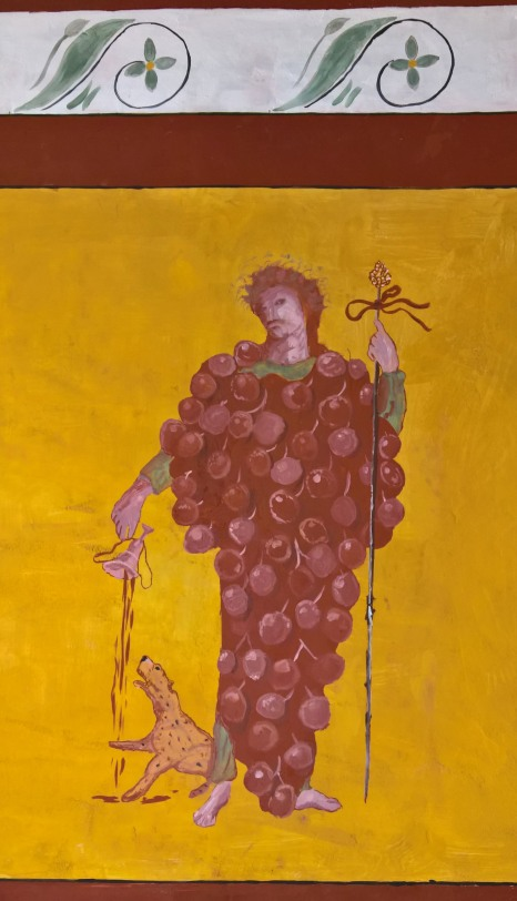 Bacchus feeding wine to his Leopard. Inform the RSPB