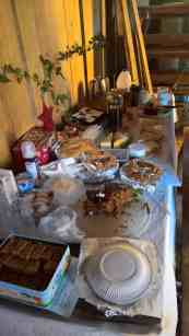 one of the food tables