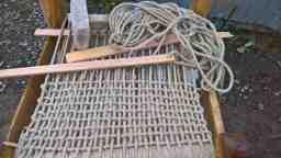 The hemp rope weave half finished