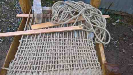 The hemp rope weave half finished