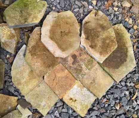 Roman stone roof tiles