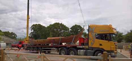 lorry and crane