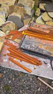 tile rods from the tile cutter