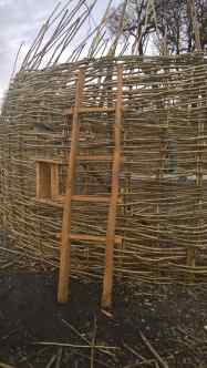 replica Iron Age ladder based on Glastonbury find